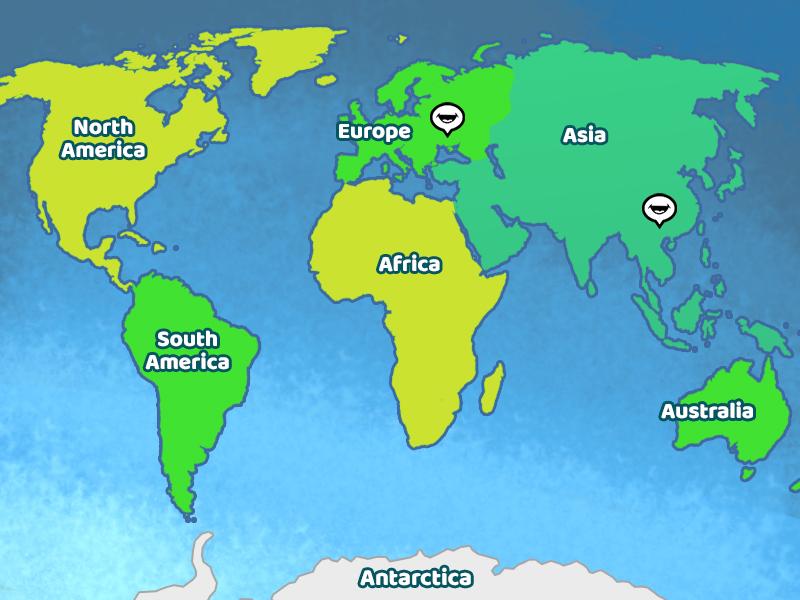 World Language Map - The Children\'s University of Manchester